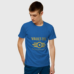 Футболка хлопковая мужская Vault Tec цвета синий — фото 2