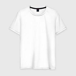 Мужская хлопковая футболка с принтом Rise in revolution, цвет: белый, артикул: 10154745300001 — фото 1