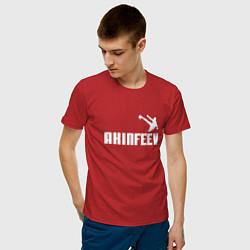 Футболка хлопковая мужская Akinfeev Style цвета красный — фото 2