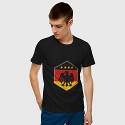 Футболка хлопковая мужская Немецкий фанат цвета черный — фото 2