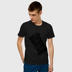 Мужская хлопковая футболка с принтом More 2Pac, цвет: черный, артикул: 10015742000001 — фото 2