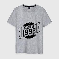 Футболка хлопковая мужская Made in 1992 цвета меланж — фото 1