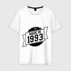 Футболка хлопковая мужская Made in 1993 цвета белый — фото 1