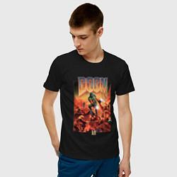 Футболка хлопковая мужская DOOM id цвета черный — фото 2