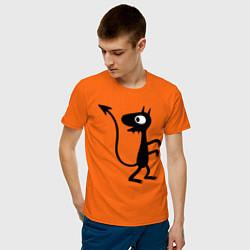 Футболка хлопковая мужская Luci цвета оранжевый — фото 2