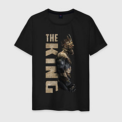 Мужская хлопковая футболка с принтом McGregor: The King, цвет: черный, артикул: 10162909100001 — фото 1