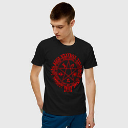 Футболка хлопковая мужская Alucard Pentagram цвета черный — фото 2
