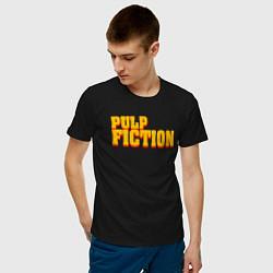 Футболка хлопковая мужская Pulp Fiction цвета черный — фото 2