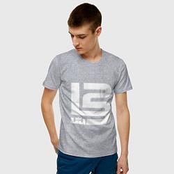 Мужская хлопковая футболка с принтом Lebron James, цвет: меланж, артикул: 10169385900001 — фото 2