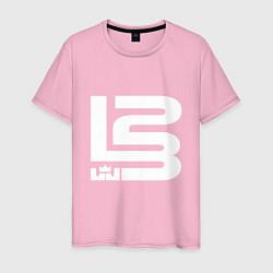 Футболка хлопковая мужская Lebron James цвета светло-розовый — фото 1