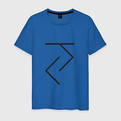 Футболка хлопковая мужская Йога - руна цвета синий — фото 1