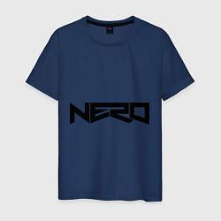 Футболка хлопковая мужская Nero цвета тёмно-синий — фото 1