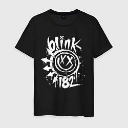 Футболка хлопковая мужская Blink-182: Smile цвета черный — фото 1