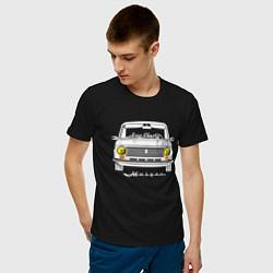 Футболка хлопковая мужская Жигули 2101 цвета черный — фото 2