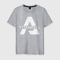Футболка хлопковая мужская Apex Legends x Titanfall цвета меланж — фото 1