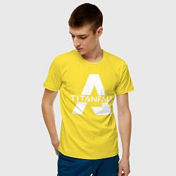 Футболка хлопковая мужская Apex Legends x Titanfall цвета желтый — фото 2