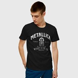 Футболка хлопковая мужская Metallica: Whiskey in the Jar цвета черный — фото 2