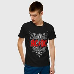 Футболка хлопковая мужская AC/DC: Black Ice цвета черный — фото 2