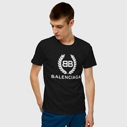 Футболка хлопковая мужская Balenciaga Fashion цвета черный — фото 2
