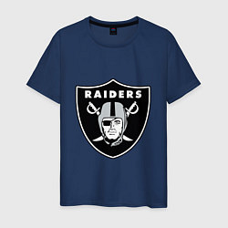 Футболка хлопковая мужская Raiders цвета тёмно-синий — фото 1