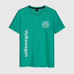 Футболка хлопковая мужская VOLKSWAGEN цвета зеленый — фото 1