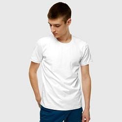 Мужская хлопковая футболка с принтом HONDA, цвет: белый, артикул: 10173933900001 — фото 2