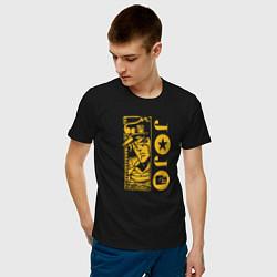 Футболка хлопковая мужская JoJo цвета черный — фото 2