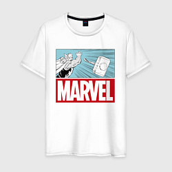 Футболка хлопковая мужская Thor: Marvel цвета белый — фото 1