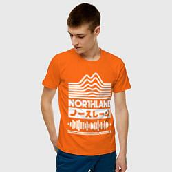 Футболка хлопковая мужская Northlane Music цвета оранжевый — фото 2