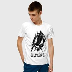 Футболка хлопковая мужская The Hunger Games цвета белый — фото 2