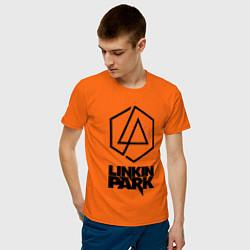 Футболка хлопковая мужская LINKIN PARK настраиваемый цвета оранжевый — фото 2