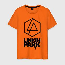 Футболка хлопковая мужская LINKIN PARK настраиваемый цвета оранжевый — фото 1