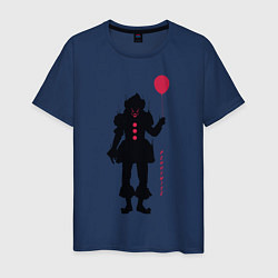 Футболка хлопковая мужская Pennywise цвета тёмно-синий — фото 1