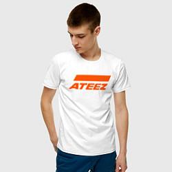 Мужская хлопковая футболка с принтом Ateez, цвет: белый, артикул: 10196048300001 — фото 2