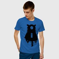 Футболка хлопковая мужская Доктор Кто цвета синий — фото 2