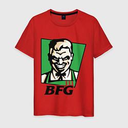 Футболка хлопковая мужская BFG цвета красный — фото 1
