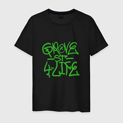 Футболка хлопковая мужская Grove Street цвета черный — фото 1