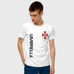 Футболка хлопковая мужская UMBRELLA CORP цвета белый — фото 2