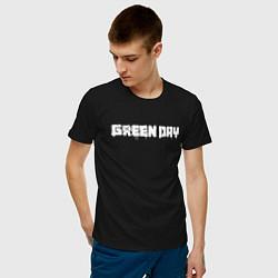 Футболка хлопковая мужская GreenDay цвета черный — фото 2