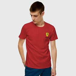 Футболка хлопковая мужская Ferrari цвета красный — фото 2