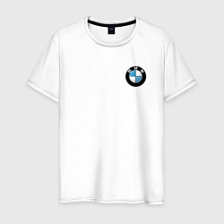 Футболка хлопковая мужская BMW цвета белый — фото 1