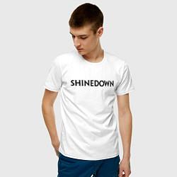 Футболка хлопковая мужская Shinedown цвета белый — фото 2