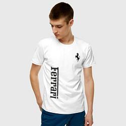 Футболка хлопковая мужская Ferrari цвета белый — фото 2
