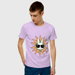 Мужская хлопковая футболка с принтом Властелин морковки, цвет: лаванда, артикул: 10215878700001 — фото 2