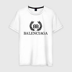 Футболка хлопковая мужская BALENCIAGA цвета белый — фото 1