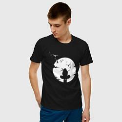 Футболка хлопковая мужская НАРУТО цвета черный — фото 2