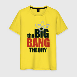 Футболка хлопковая мужская Big Bang Theory logo цвета желтый — фото 1