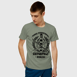 Футболка хлопковая мужская Пограничные Войска цвета авокадо — фото 2
