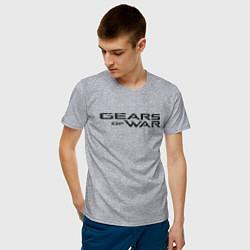 Футболка хлопковая мужская Gears цвета меланж — фото 2