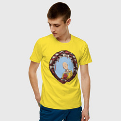 Футболка хлопковая мужская One-Punch Man цвета желтый — фото 2
